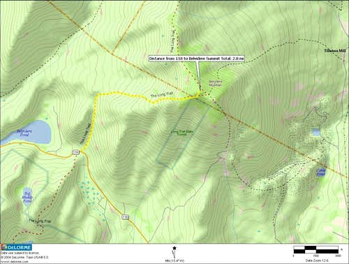 Route Overview to Belvidere Mountain