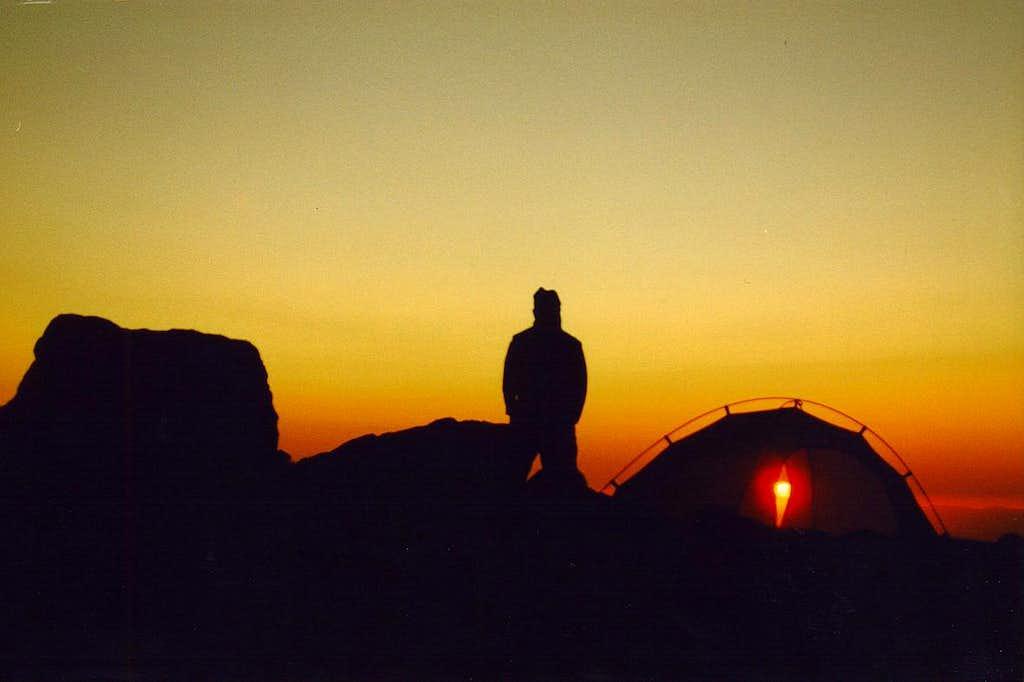 Sunset near Barrett Spur, Mt. Hood