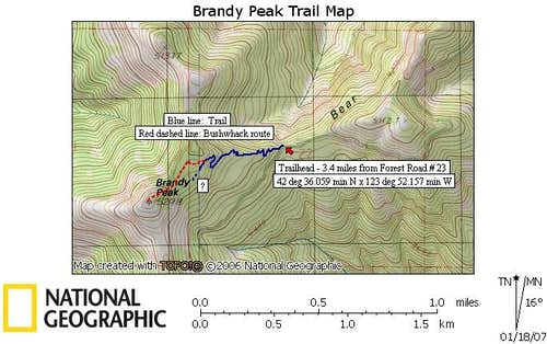 Brandy trail map