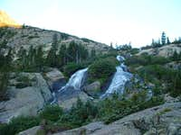 The waterfalls below the lake...