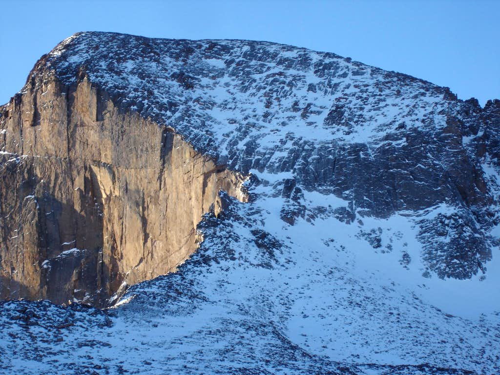 Long's North Face in Winter