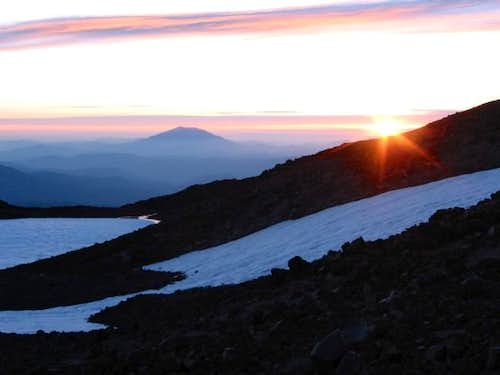 Mt. St. Helens and sunset...