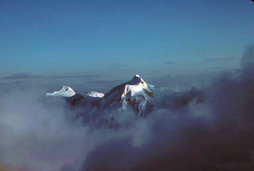 Both summits of Mount Hunter