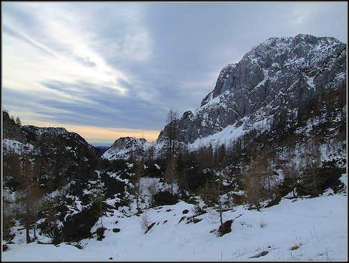 Ogradi from the ascent on Prevalski Stog