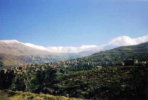 The Central Lebanese range