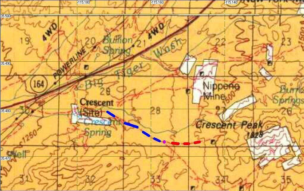 Crescent Peak BLM Map