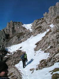 On the final ascent to Reither Spitze