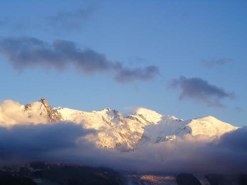 Mont Blanc at sun set