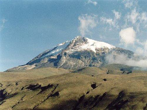 Caption of Nevado del Tolima...