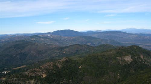 Cobb Mountain from the Mt. St. Helena North peak summit