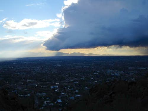 Large Thunderhead moving in over Phoenix