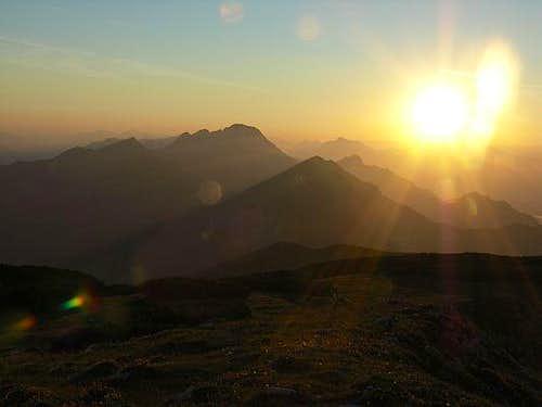 Sunset in Karawanken