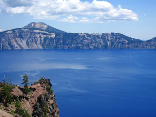 Across Crater Lake to Mt. Scott