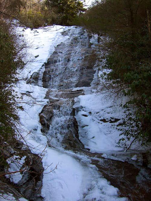 Waterfall on Flat Laurel trail