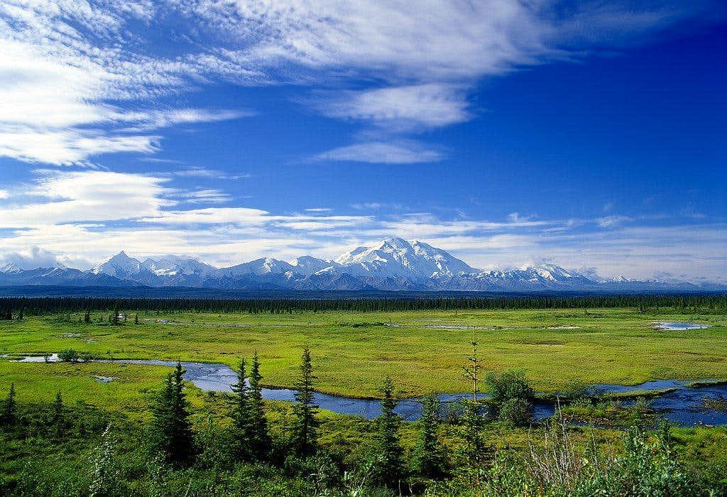 A distance view of McKinley (Denali)