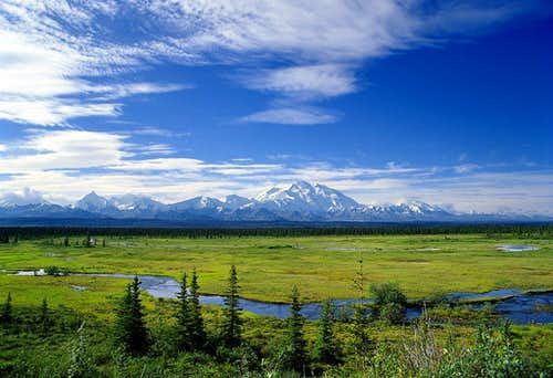 A distance view of McKinley (Denali)