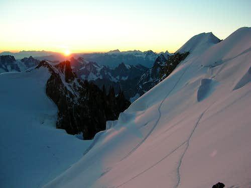 Matterhorn, Weisshorn, MB du Tacul and Bernese Alps
