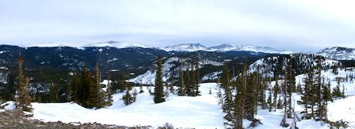 The Mummy Range as seen from Bald Mountain