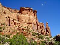 Sandstone Monuments Standing Sentry