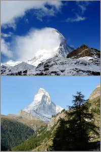 Matterhorn - two different faces