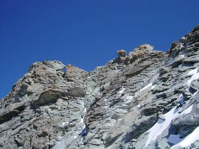 The ridge of the Zinalrothorn