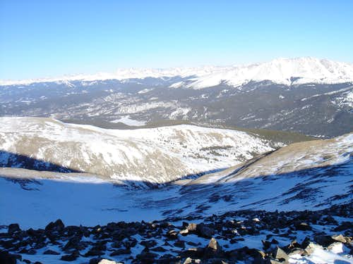 Looking north towards Bald Mtn., Grays and Torreys and Keystone Ski Area