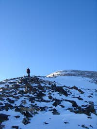 Shadows on upper slopes of Quandary's East Ridge