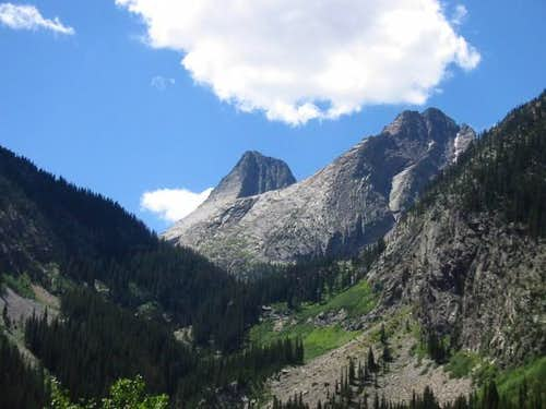 Vestal Peak - with Wham Ridge...