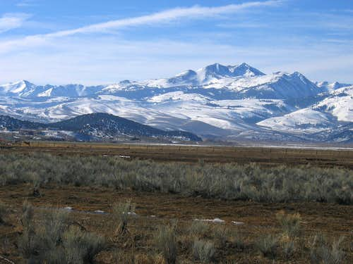 Dunderberg Peak as seen from near Bridgeport