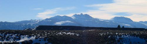 Winter view of Crater Mountain