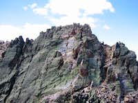 View of the true summit of...