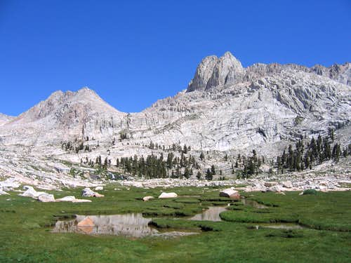 Mount McAdie from the Miter Basin