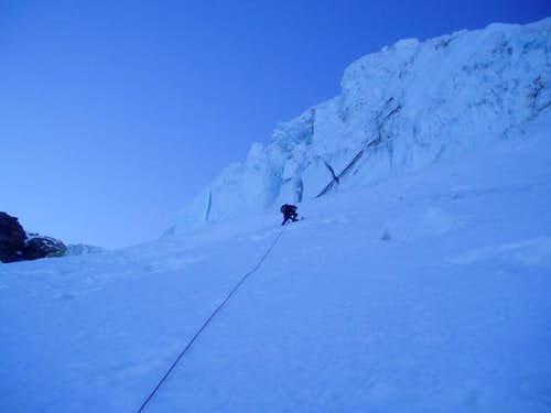 Climbing the Adams Glacier