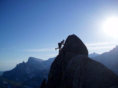 Climbing West Ridge