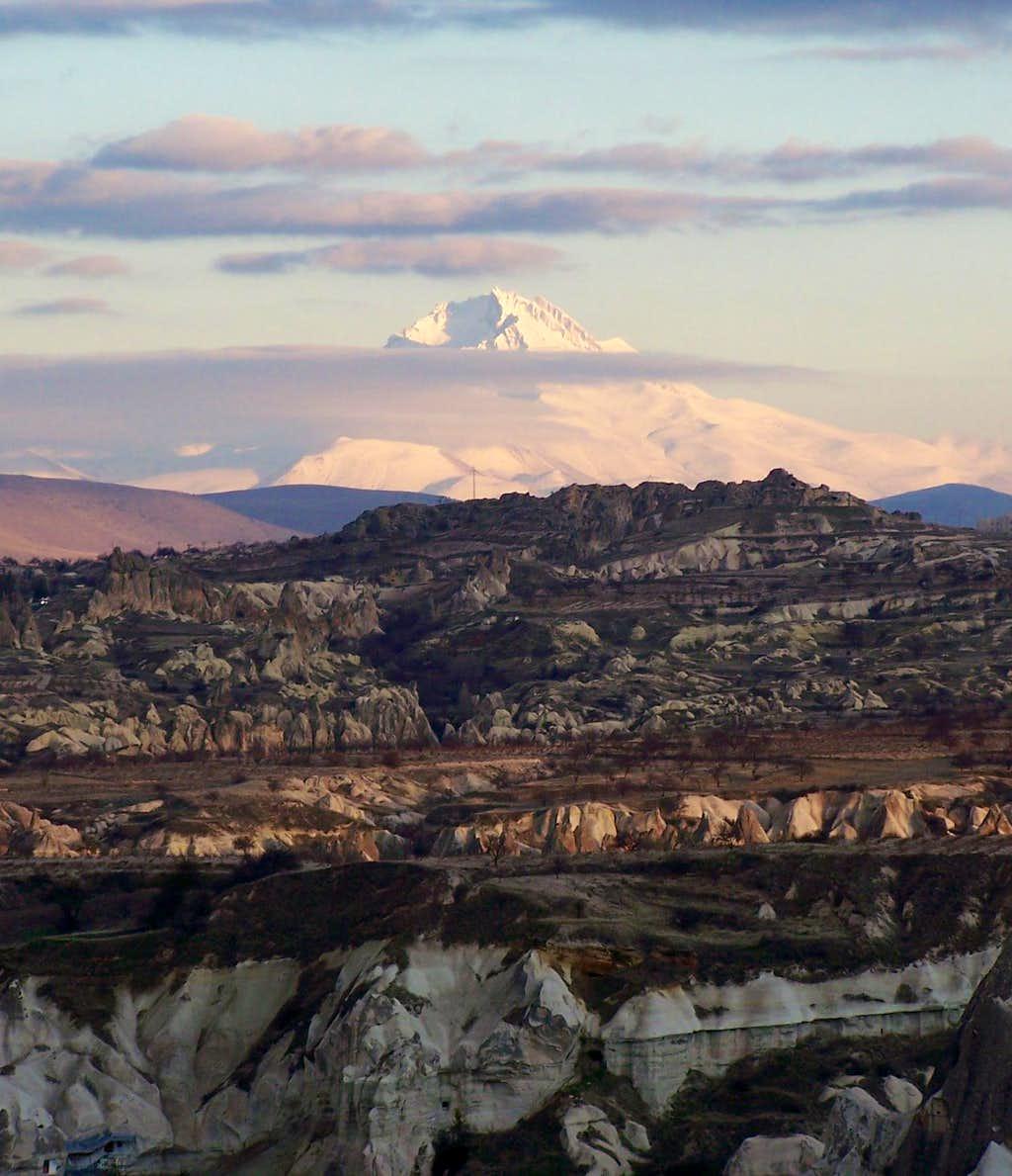Erciyes Volcano from Cappadocia