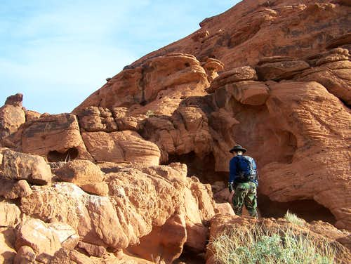 Me hiking in the Valley of Fire