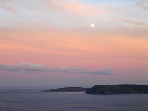 Moonrise over Cape Spear