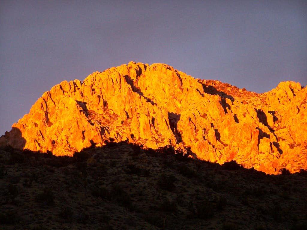 Spirit Mountain at sunset