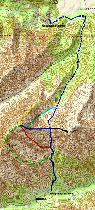 Mount Hope & Quail Mountain Routes