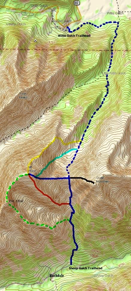 Mount Hope & Quail Mountain Routes