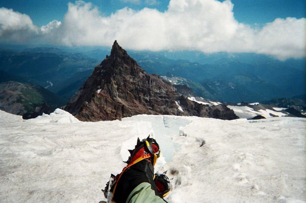 Relaxing on Mt. Rainier