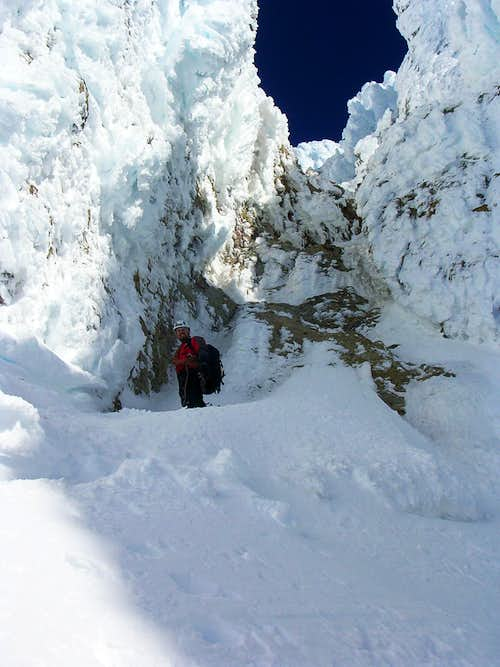 At the base of the first couloir