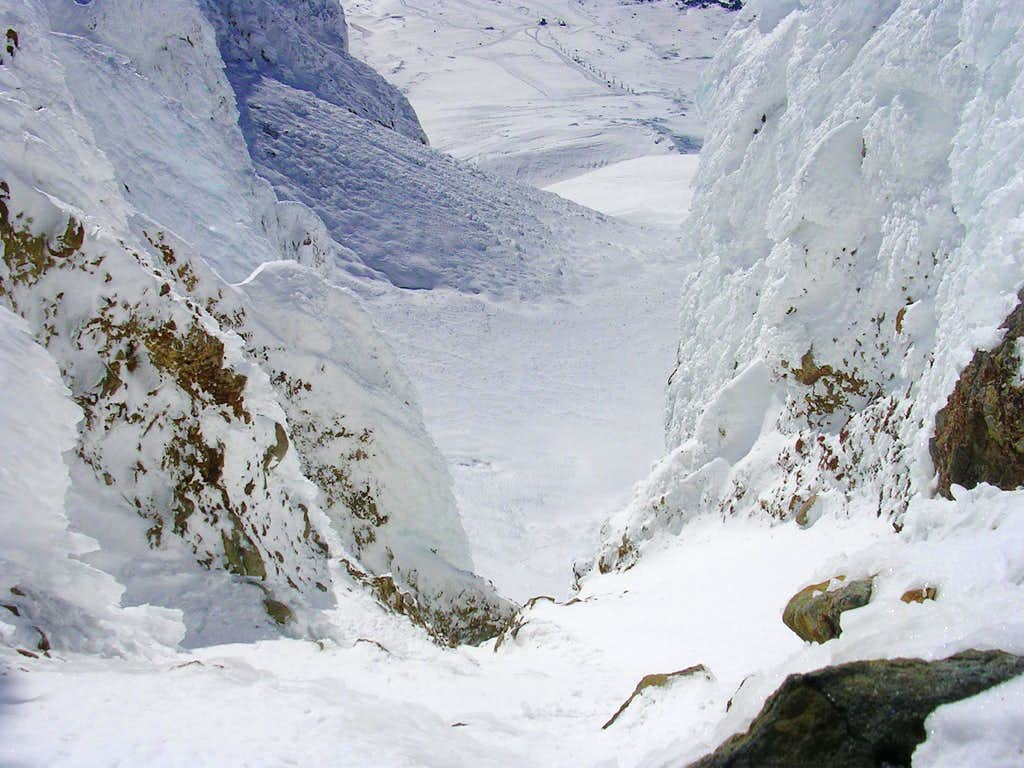 View from above the second couloir