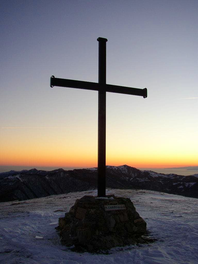 Cross of Carmo at sunset