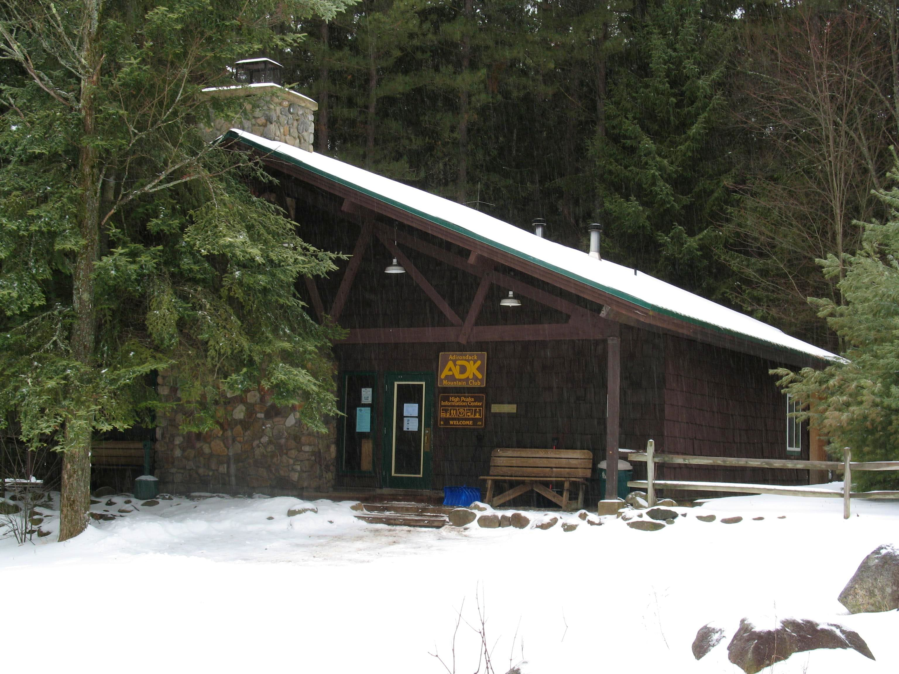ADK LOJ, High Peaks Info Center & Van Hoevenberg Trail Parking