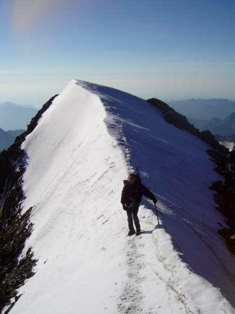 The snowridge leading to the...