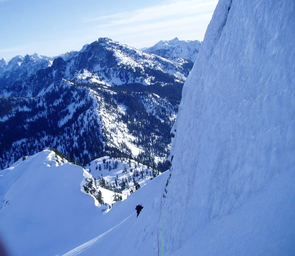 North Face traverse