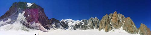 Panoramic View of Mont Blanc (4810m)