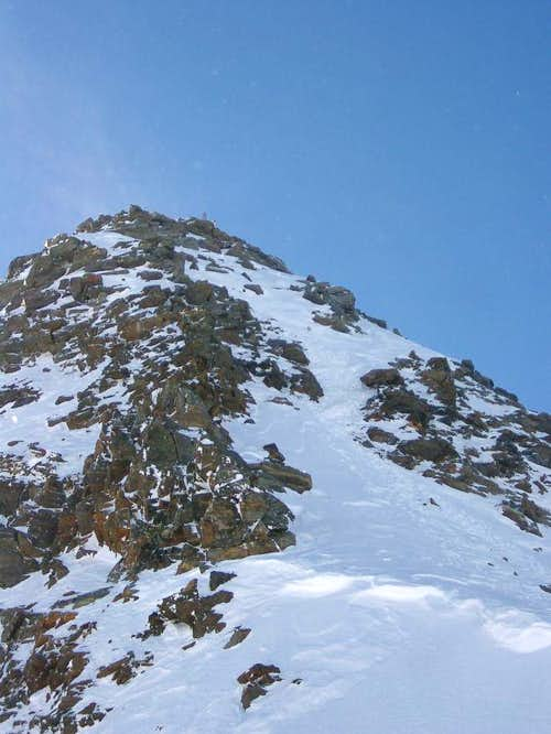 Final ascent to the top of Zuckerhuetl