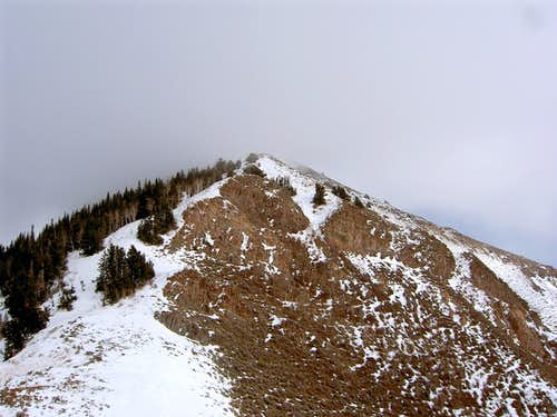 Lewiston Peak: On the route to Flat top